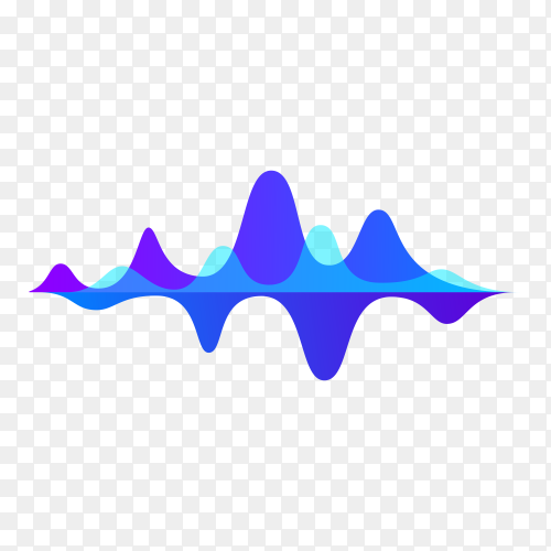 Sound wave isolated on transparent background PNG