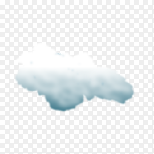 Storm cloud on transparent background PNG