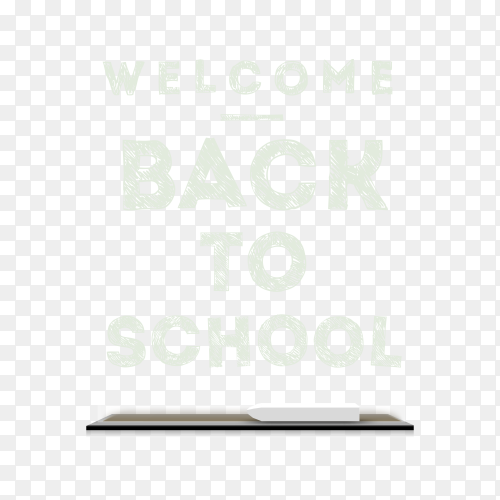 Welcome back to school web banner illustration on transparent background PNG