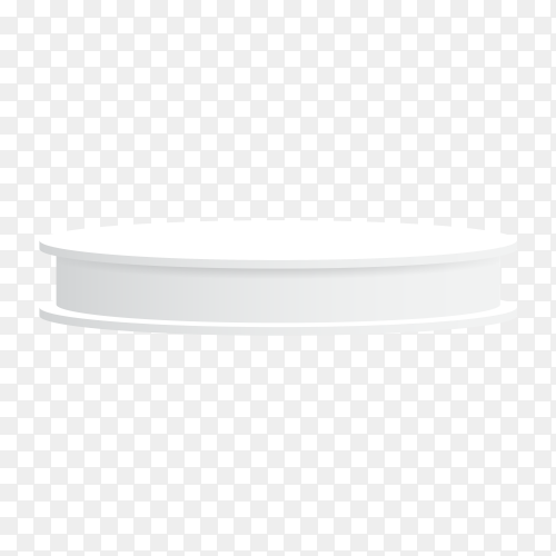 White podium isolated on transparent background PNG