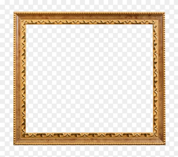 Wooden old picture frames on transparent background PNG