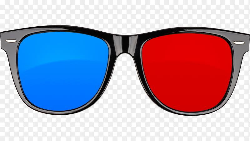3d cinema glasses on transparent background PNG