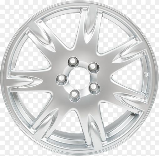 Alloy wheel isolated on transparent background PNG