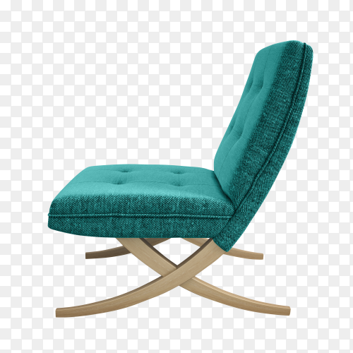 Armchair isolated on transparent PNG