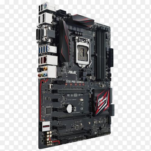 Asus programming motherboard on transparent background PNG