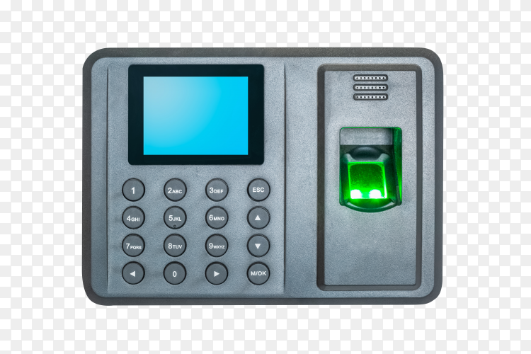 Attendance machine on transparent background PNG