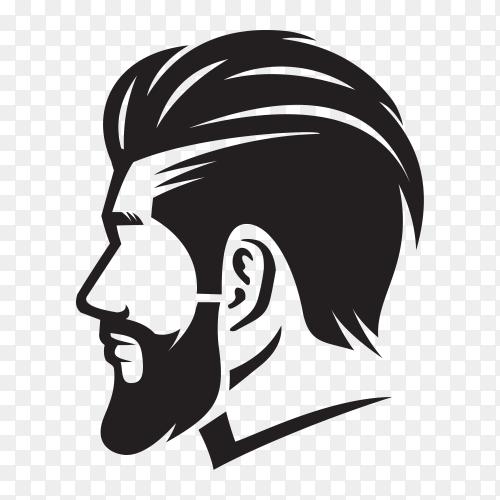 Barberman holding scissor illustration on transparent PNG