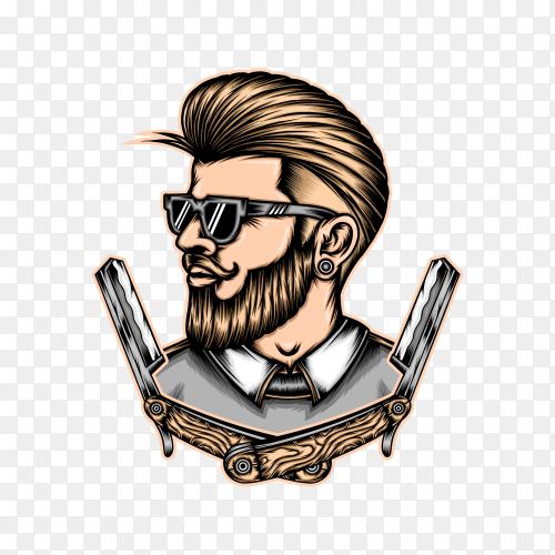 Barberman on transparent background PNG
