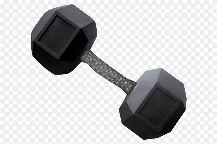 Big dumbbells isolated on transparent background PNG