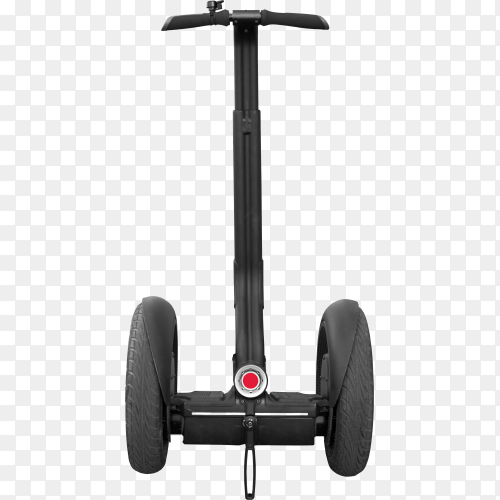 Black Segway with handle isolated on transparent background PNG