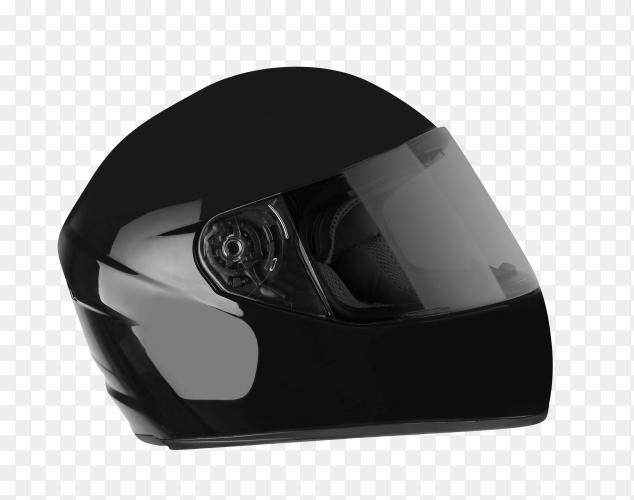 Black helmet on transparent  background PNG