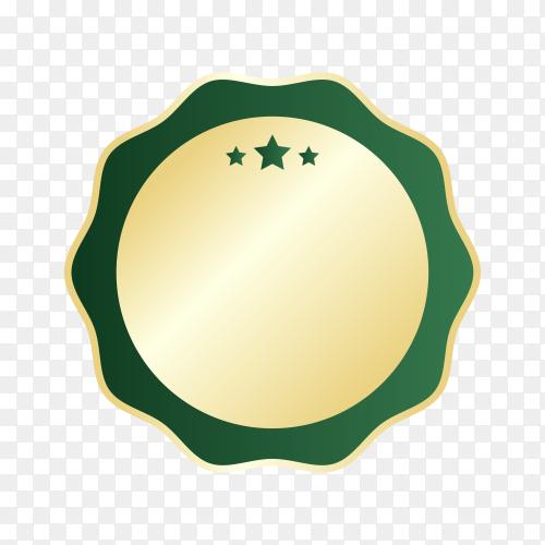 Blank shiny labels and badge design on transparent background PNG
