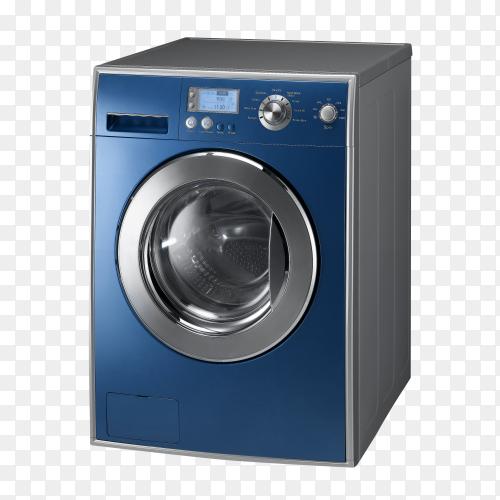 Blue Washing machine isolated on transparent background PNG