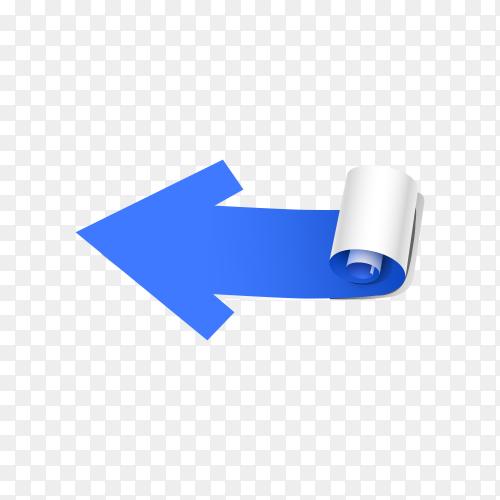 Blue arrow on transparent background PNG