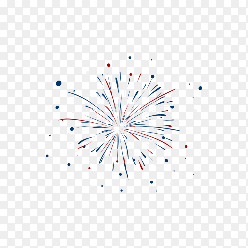 Brightly Colorful Firework on transparent background PNG
