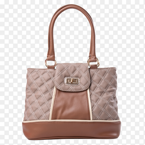 Brown woman bag on transparent background PNG