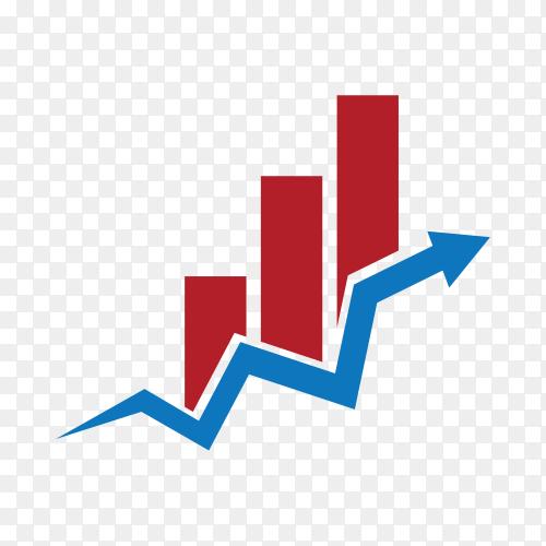 Business Finance logo design on transparent background PNG
