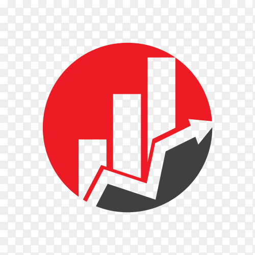 Business Finance logo design template on transparent background PNG