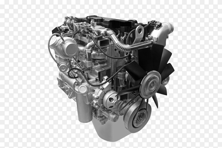 Car engine isolated on transparent background PNG