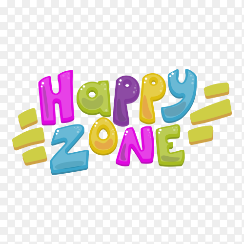 Colorful Happy zone icon design on transparent background PNG