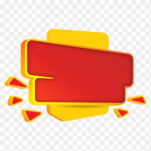 Colorful banner design on transparent background PNG
