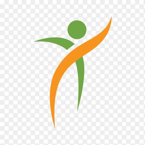 Community Activity Concept Logo Design on transparent background PNG