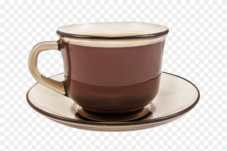 Cup of coffee on transparent background PNG