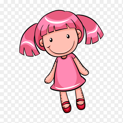 Cute pink toy for kids on transparent background PNG
