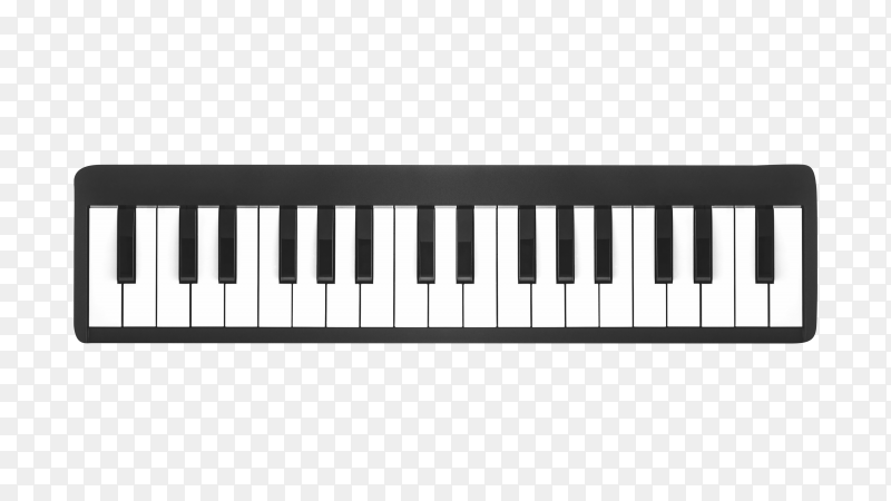 Digital piano isolated on transparent background PNG