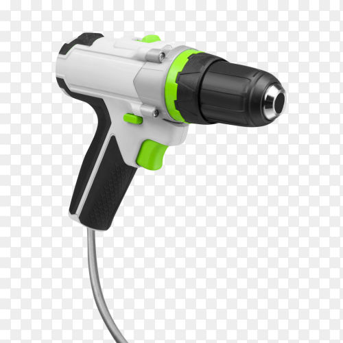 Electric drill isolated on transparent background PNG