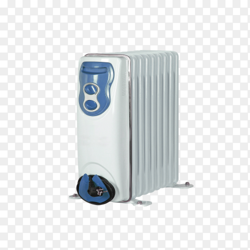 Electric oil heater on transparent background PNG
