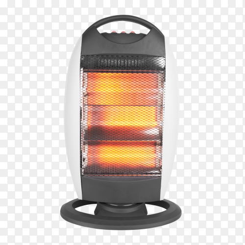 Electric quarts heater on transparent background PNG