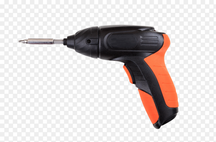 Electric screwdriver on transparent background PNG