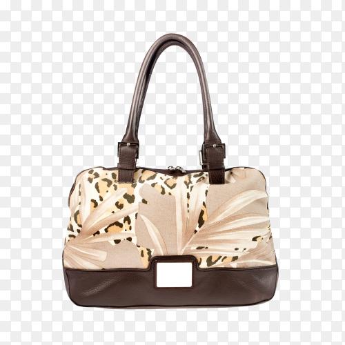 Elegant woman handbag on transparent background PNG