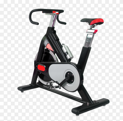 Exercise bike isolated on transparent background PNG