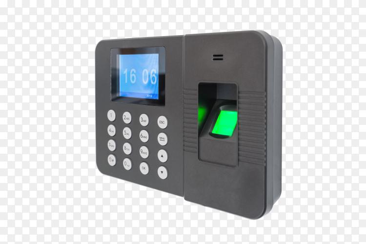 Fingerprint attendance machine on transparent PNG