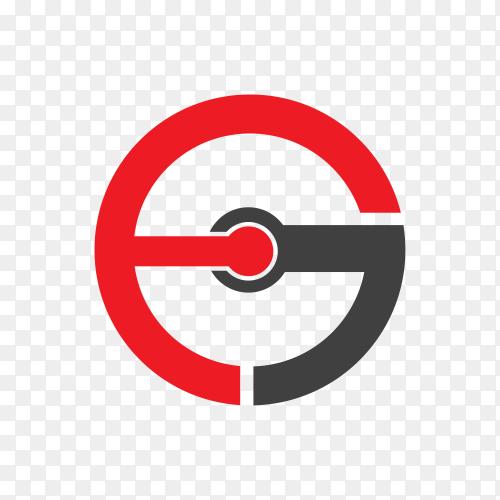 Flat design logo template on transparent background PNG