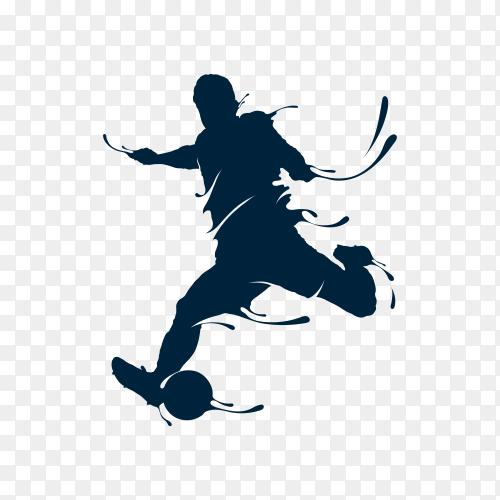 Football shoot splash on transparent background PNG