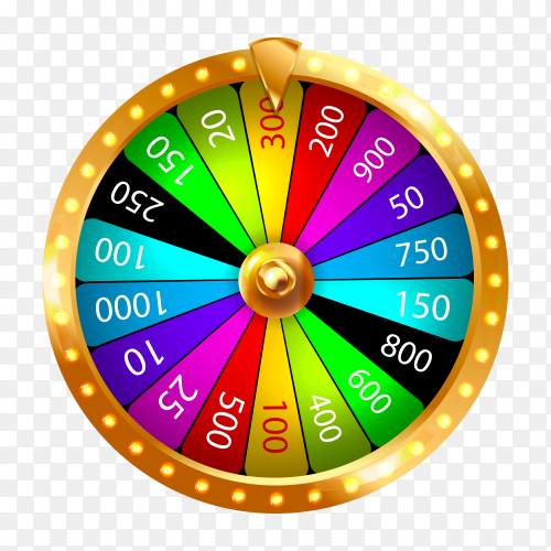 Fortune wheel isolated on transparent background PNG