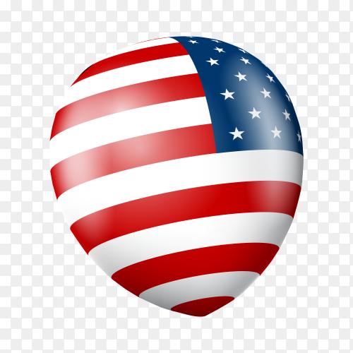 Fourth of July U.S. Independence Day USA Celebration on transparent background PNG