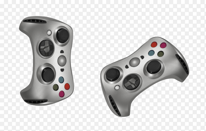 Gamepads isolated on transparent background PNG