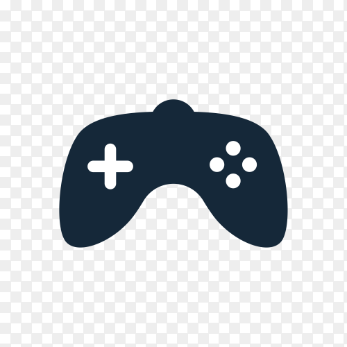 Gaming joystick logo illustration on transparent background PNG