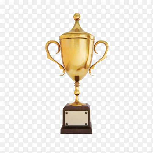 Golden winners cup on transparent background PNG