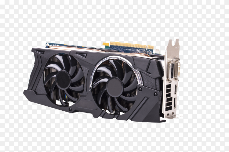Graphics card isolated on transparent background PNG