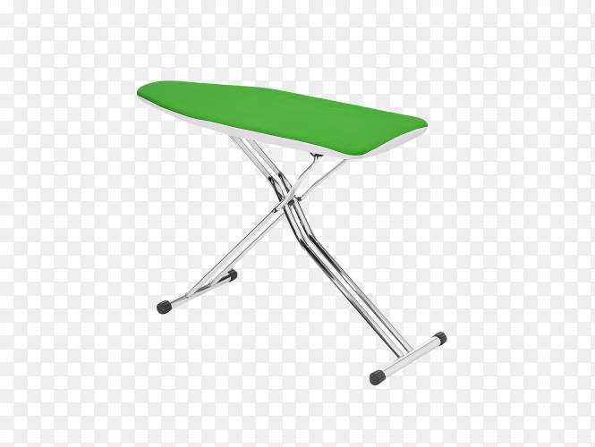 Green ironing board isolated on transparent background PNG