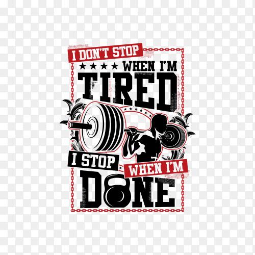 Gym logo design illustration on transparent background PNG