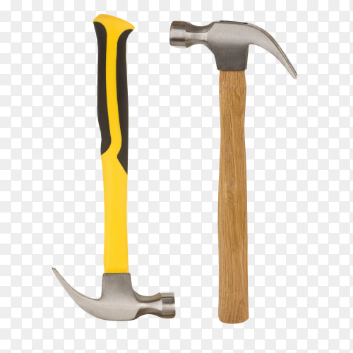 Hammers isolated on transparent background PNG