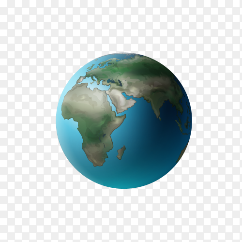 Hand drawn earth icon design on transparent background PNG