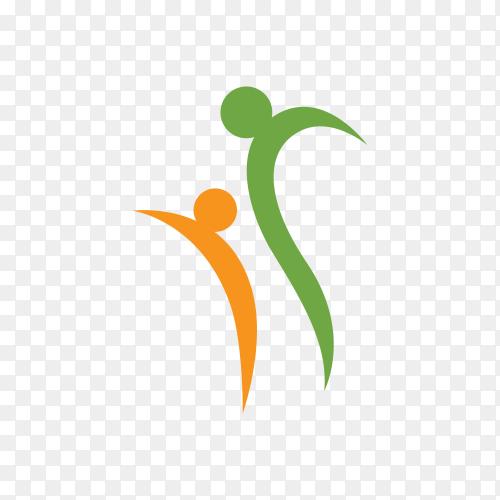 Health concept logo design on transparent background PNG