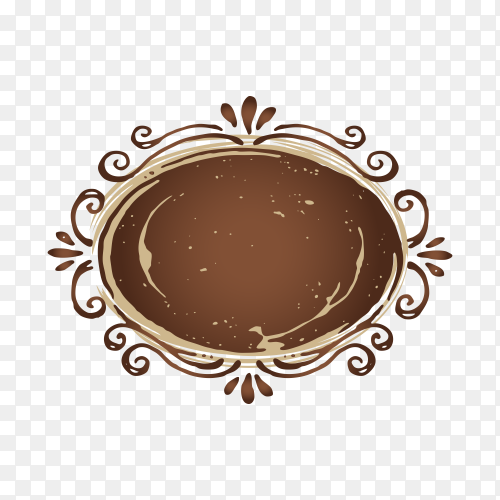 Houe coffee logo design on transparent background PNG